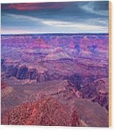 Red Rock Dusk Wood Print
