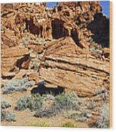 Red Rock Land Wood Print