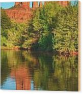 Red Rock Reflection Wood Print