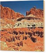 Red Rock Ridges Wood Print