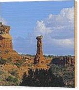 Red Rock Secret Mountain Wood Print