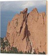 Red Rock Wood Print