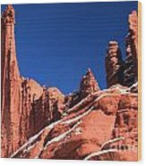 Red Rock Towers Wood Print