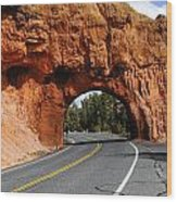 Red Rock Tunnel Wood Print