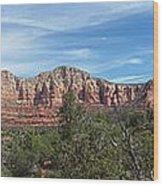 Red Rock Views Wood Print