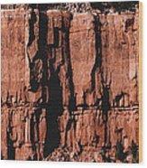 Red Rock Wall Wood Print