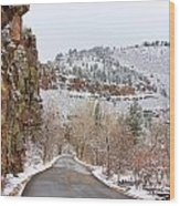 Red Rock Winter Drive Wood Print by James BO  Insogna