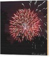 Red Rocket Burst Wood Print