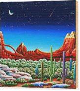 Red Rocks 5 Wood Print