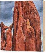 Red Rocks Against Blue Skies Wood Print