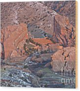 Red Rocks Amphitheater On Fire Wood Print