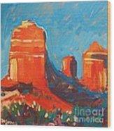 Red Rocks At Sedona Wood Print
