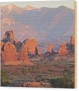 Red Rocks In Arches National Park Wood Print
