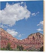 Red Rocks In Sedona Arizona Wood Print
