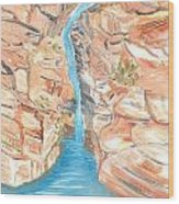 Red Rocks Of Water Wood Print