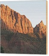 Red Rocks Of Zion Park Wood Print