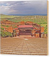 Red Rocks Park Amphitheater - Centered View Wood Print