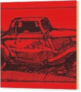 Red Rod Wood Print