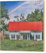 Red Roof Charm Wood Print