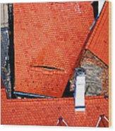 Red Roofs Of Sibiu Wood Print