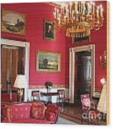 Red Room White House Wood Print