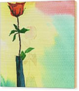 Red Rose 1 Wood Print by Anil Nene