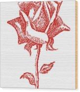 Red Rose Art 1 Wood Print