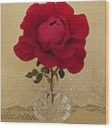 red rose III Wood Print