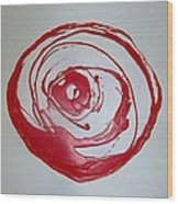 Red Rose Simply 1 Wood Print
