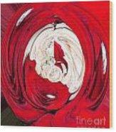 Red Rose Wrap Wood Print