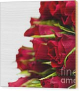 Red Roses Wood Print by Anne Gilbert