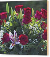 Red Roses Say I Love You Wood Print