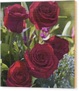 Red Roses The Language Of Love Wood Print