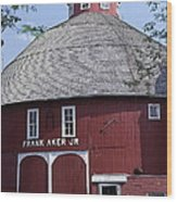 Red Round Barn With Cupola Wood Print