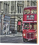 Red Routemaster Wood Print