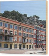 Red Row Houses In Nice Wood Print