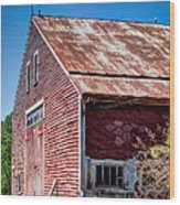 Red Rustic Weathered Barn Wood Print