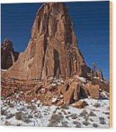 Red Sandstone Arches National Park Utah Wood Print