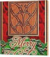 Red Satin Christmas Wood Print