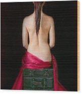 Red Sensuality Wood Print