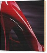 Red Sexy High Heels Abstract Wood Print by Oleksiy Maksymenko