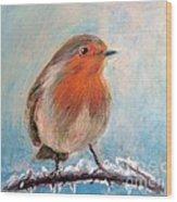 Red Singer Wood Print