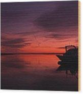 Red Skies Over Georgia Wood Print