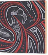 Red Skin Wood Print