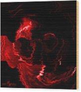 Red Skull  Wood Print