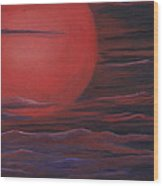 Red Sky A Night Wood Print