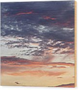 Red Sky At Night Wood Print