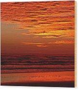 Red Sky Dawn Wood Print