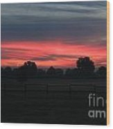 Red Sky In The Morning Wood Print