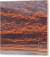 Red Sky Wood Print by Michal Boubin